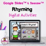 Rhyming Google Slides & Seesaw Distance Learning
