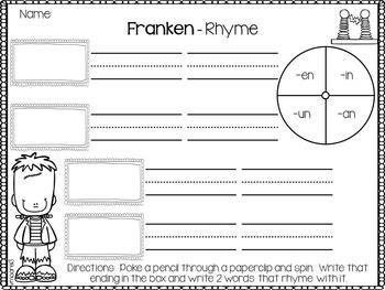 Rhyming Hat and Pack { Franken - Rhyme }