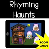 Rhyming Haunts (Halloween) - Phonemic Awareness Boom Cards