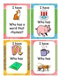 """Rhyming """"I have, Who Has"""" cards"""