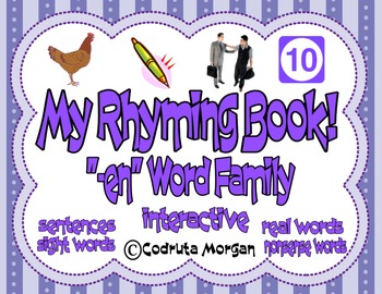 """Rhyming Interactive Book - """"-en"""" Word Family. CCS Aligned"""