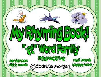"Rhyming Interactive Book - ""-et"" Word Family. CCS Aligned"