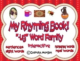 """Rhyming Interactive Book - """"-ug"""" Word Family. CCS Aligned"""