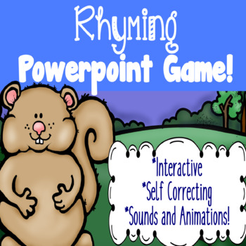 Rhyming Interactive PowerPoint Game!