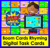 Boom Cards™ Rhyming - Interactive Self-Chkg Task Cards- wi