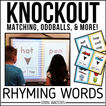 Rhyming Game | KNOCKOUT | Rhyming Pictures & Words | Distance Learning