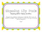 Rhyming Lily Pad Match Game