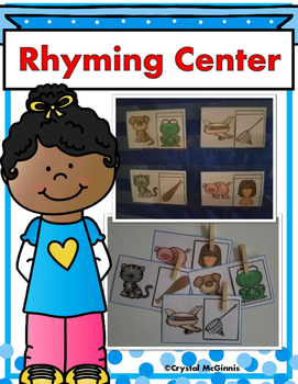 Rhyming Literacy Center for Young Learners (Black and White & Color)