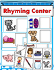 Rhyming Literacy Center for Young Learners (Black and Whit