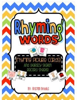 Rhyming Literacy Station Pack!