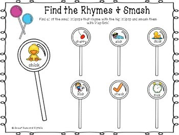 Rhyming Lollipop Smash Mats