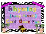 Rhyming (Long Vowels) Card Game Fun (Common Core Aligned)