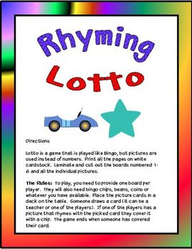 Rhyming Lotto