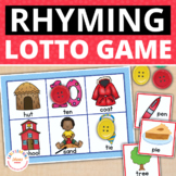 Rhyming Activity Matching Game : Rhyming Game for Preschool and Kindergarten