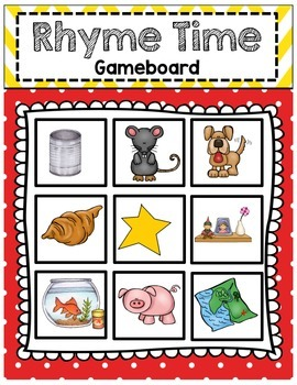 Rhyming MATCH UP Game - FIVE Complete Coordinating Sets