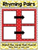 Rhyming MATS and MEMORY - Activity, Games, Centers