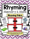 Rhyming Match Up - Literacy Center - Rhyming Game