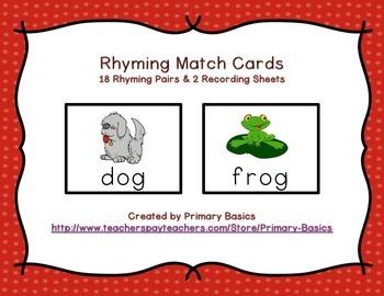 Rhyming Match Cards