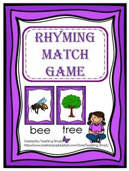 FREE Rhyming Match Game