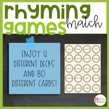 Rhyming Match Game