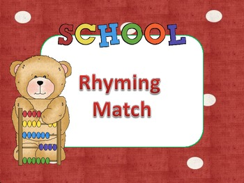 Rhyming Match Literacy Station Game