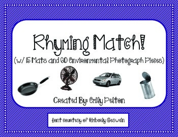 Rhyming Match! (w/ 15 Mats and 60 Environmental Photograph Pieces)