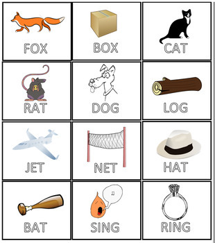 Rhyming/Matching Game - Uneditable
