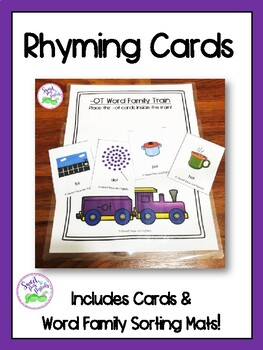 Word Family Rhyming Cards