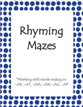 Rhyming Mazes and Word Cards