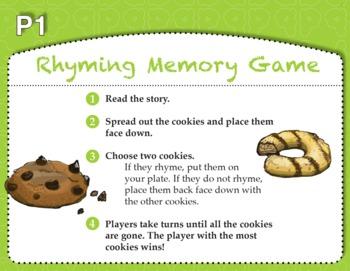 Rhyming Memory Game with Cookies