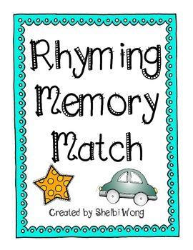 Rhyming Memory Match