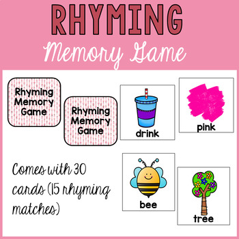 Rhyming Memory Match-Up Game