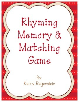 Rhyming Memory and Matching Game