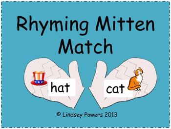 Rhyming Mittens Match