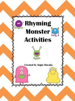 Rhyming Monster Activities