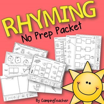 Rhyming No Prep Pack