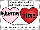 Rhyming/ Numbers Stations/ Making words with Word Families / Valentine's Day