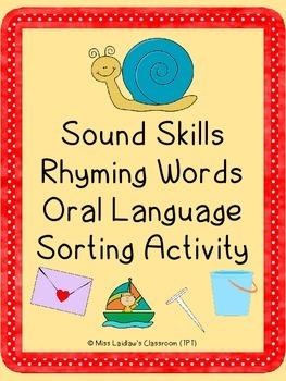 Rhyming Oral Language Activity - Building Reading and Writing Skills (Phonics)