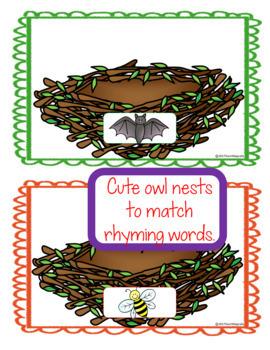Rhyming Owl Phonological Awareness Fun