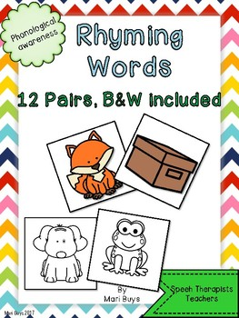 Rhyming Pairs Colour and B&W Phonological Awareness