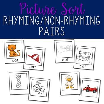 Rhyming Pairs vs Non-Rhyming Pairs: Sort