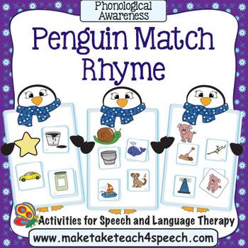 Rhyming Penguin Match