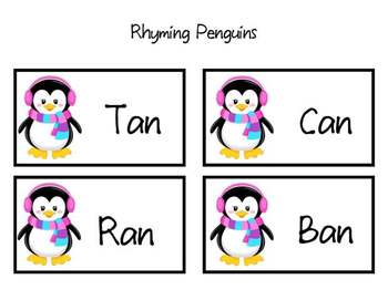 Rhyming Penguins Assessment & Activity Cards