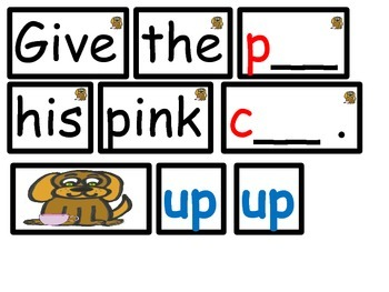 Rhyming Phoneme Pocket Chart Activities for Kindergarten