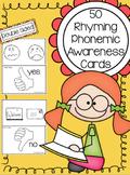 Rhyming Phonemic Awareness Task Cards