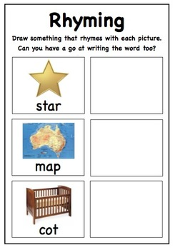 Rhyming Phonics Sheet