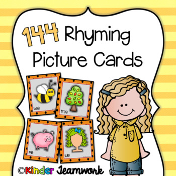 Rhyming Picture Cards {72 rhyme pairs for a total of 144 cards}