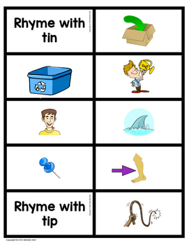 Rhyming Picture Cards