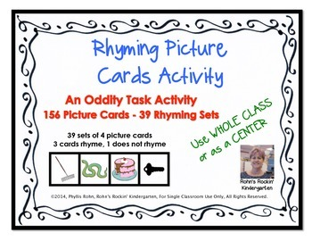 Rhyming Picture Cards Activity