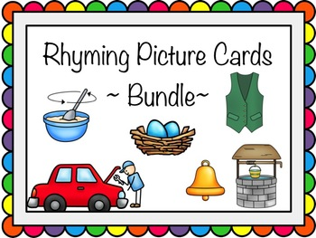 Rhyming Picture Cards Bundle - All Three Sets